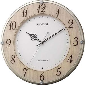 名入れ対応可 電波時計 掛け時計 |リズム時計 ライブリーナチュレ | 電波掛け時計 8MY506SR23|gift-kingdom