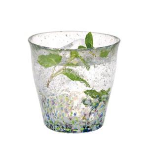 津軽 ビードロ 酒器 焼酎グラス おしゃれ |津軽びいどろ 金彩ロックグラス 雫 | 日本酒グラス | 氷華 F-71466|gift-kingdom
