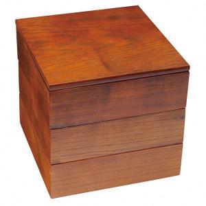 木製 重箱 かわいい おしゃれ  なごみ ぬりもん 20cm 三段重   重箱 S19-03 gift-kingdom