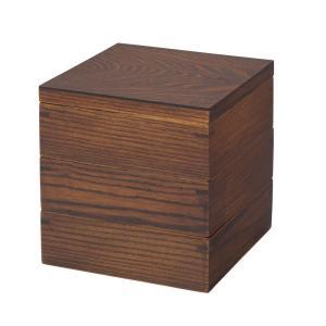 木製 重箱 かわいい おしゃれ  三段重箱 名入れ代無料 色型選択肢:漆/ナチュラル JH0403SU gift-kingdom