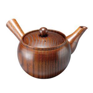 菓子鉢 茶器セット  天然素材 木製急須 漆塗り   木の急須 H-15 gift-kingdom
