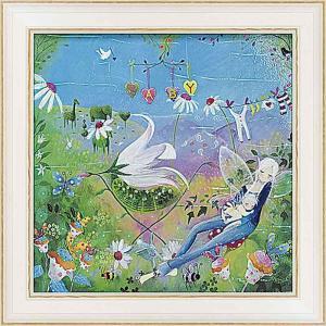 壁掛け飾り 絵画 お祝い 記念品 おしゃれ かわいい |ロリー マクファール 「アフタヌーン スヌーズ」 LM-06004|gift-kingdom