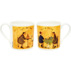 マグカップ 絵画 お祝い 記念品 おしゃれ かわいい  サム トフト アートマグカップ 「みんなでお茶」 卓上用、化粧箱入 ST-02005 gift-kingdom