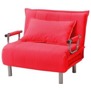 折りたたみソファーベッド/カウチソファー 〔シングルサイズ〕 肘付き 6段階リクライニング 『ビータII』 うめ(濃いピンク)