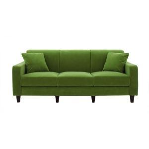 ソファー 幅190cm〔LeJOY スタンダードタイプ〕 グラスグリーン 脚:角錐/ナチュラル 〔リジョイ〕:20色から選べる カバーリングソファ