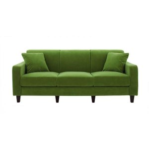 ソファー 幅190cm〔LeJOY スタンダードタイプ〕 グラスグリーン 脚:角錐/ダークブラウン 〔リジョイ〕:20色から選べる カバーリングソファ