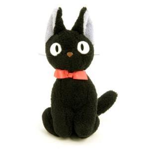 スタジオジブリのアニメーション作品(1989年)「魔女の宅急便」のキャラクター、黒猫のジジのぬいぐる...