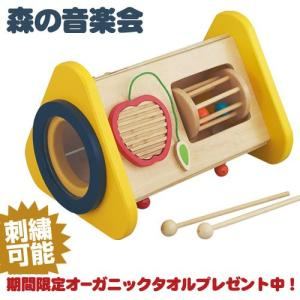 エドインター 森の音楽会 出産祝い ドラム・シロフォン・ギロ・ラトル・歯車の子どもが大好きな5つの音が楽しめるおもちゃです|gift-one