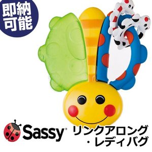 Sassy 歯固め リンクアロング・レディバグ 出産祝い レディバグはてんとう虫 キュートなデザインの歯がためは羽の部分が冷蔵庫で冷やすとひんやり|gift-one