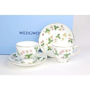 ( ウェッジウッド ( Wedgwood ) ) ワイルドストロベリー ティーカップ&ソーサー ( リー ) ペア ペア ギフト ブランド gift-only