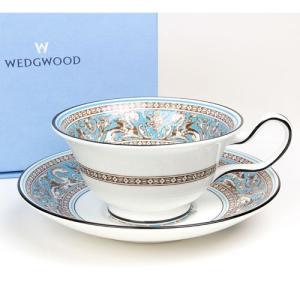 ( ウェッジウッド ( Wedgwood ) ) フロレンティーンターコイズ ティーカップ&ソーサー ( ピオニー ) ペア ギフト ブランド|gift-only