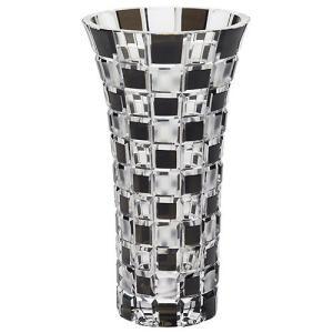 ( グラスワークス / ナルミ ) 色被せ花瓶 / アーバン ( ブラック ) フラワーベース 黒|gift-only