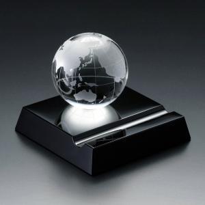 ( グラスワークス / ナルミ ) アース スマートフォンスタンド ガラス 記念品|gift-only