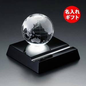 ( グラスワークス / ナルミ ) アース スマートフォンスタンド ( 名入れ メッセージ 名前入り )  ガラス 記念品 ネーム 彫刻|gift-only