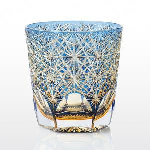 ( カガミクリスタル / ガラス ) 江戸切子 ロックグラス ( 大菊 / 伝統工芸士 / 鍋谷淳一 )  切り子 クリスタル グラス|gift-only