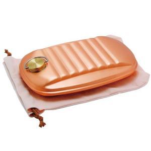 純銅 湯たんぽ ( 大 / 袋付 ) 銅製 湯たんぽ