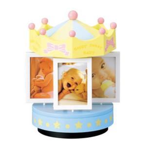 ベビー オルゴール付き メリーゴーラウンド フォトフレーム RRM05-40 プレゼント 誕生日 贈り物 記念品 写真用 赤ちゃん gift-only