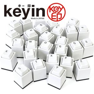 ( keyin キー印 ) ポチッと押せる キー型 浸透印 ...