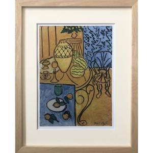 ( アートフレーム ) Henri Matisse Interior in Yellow and Blue 1946-NA ポスター アート インテリア 贈り物|gift-only