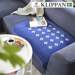 北欧 KLIPPAN クリッパン コットンミニブランケット レクタングルシャーンスンド W70×L9...