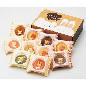 カリーノ・アニマルドーナツ10個 お菓子 プレゼント お返し かわいい 出産祝い|gift-only