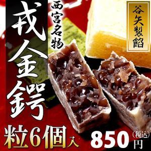( 谷矢製餡 ) 戎金鍔 きんつば ( 粒 ) 6個入|gift-only