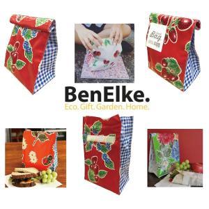 ランチバッグ オーストラリア製メキシカンオイルクロス素材 BenElke 毎日のお散歩や仕事にも 毎日見たい可愛いプリントバッグ gift-trine-pro
