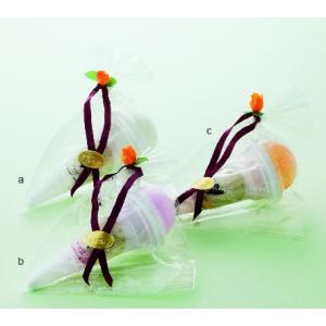 プチギフト 結婚式 披露宴 二次会 粗品 退職 イベント ソフトクリームタオル cオレンジ 送料TYPE-B2 giftcastle