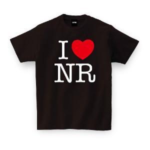 ご当地Tシャツ I LOVE NR アイラブ奈良 ブラック おもしろtシャツ メンズ レディース ギ...