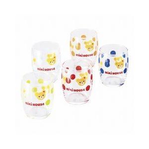 ミキハウス mikihouse ミニグラス5客セット MIKIHOUSE 御祝、 内祝に かわいいミキハウスを キッチン用品:食器・食卓用品:食器:洋食器:カップ・グラス類:タ giftmiwa