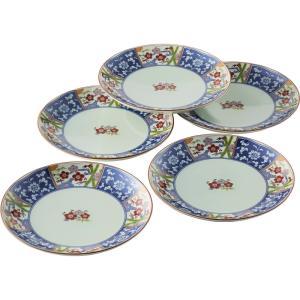 波佐見焼 金雲香梅 和皿揃5客揃  011-788 (B6162-557)|giftnomura