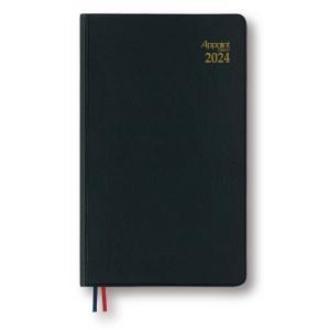 ダイゴー 2022年1月始まり E1342  月曜日始まり アポイントダイアリー 手帳ブラック 見開き1週間|giftnomura