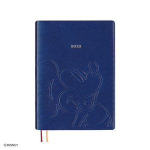 ダイゴー 2022年1月始まり ディズニー Disney Diary B6 ウィークリー ミッキー ネイビー E6162|giftnomura