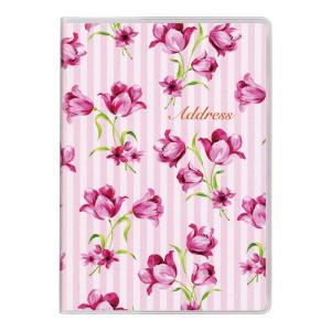 アドレス帳 手帳 ビジネス ダイゴー G6990  大きく書けるフラワーアドレス A6 ピンク|giftnomura