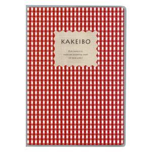 ダイゴー 家計簿付手帳  ギンガムチェック家計簿 B5 レッド J1237|giftnomura