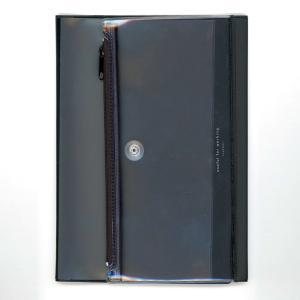 ダイゴー isshoni. ペンケース付ノートカバーPVC A5対応 ブラック N1856|giftnomura
