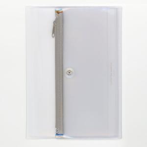 ダイゴー isshoni. ペンケース付ノートカバーPVC A5対応 クリア ベージュ N1863|giftnomura
