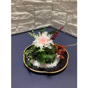 和風苔玉(小)梅型盆 T-045|giftnomura