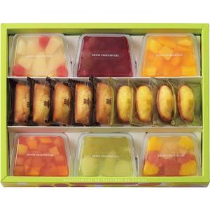 内容 * テリーヌ型フルーツゼリー×6、フィナンシェ×5、マドレーヌ×4 箱サイズ * 28.7×3...