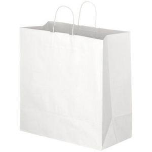 手提げ袋 白L マチ広タイプ 35×21×43cm 単品購入不可|giftshop