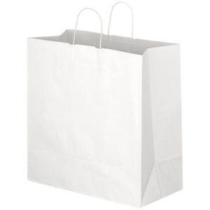 手提げ袋 白LL マチ広タイプ 44×21×43cm 単品購入不可|giftshop