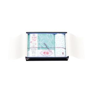 今治タオル サクラフロムジャパン ごだいさくら タオルセット ブルー SN4019 バスタオル・フェイスタオル×各1|giftshop
