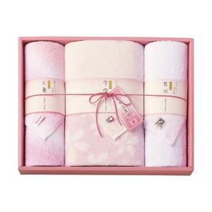 日本名産地 さくら タオルセット 29-4129400 バスタオル×1、フェイスタオル×2|giftshop