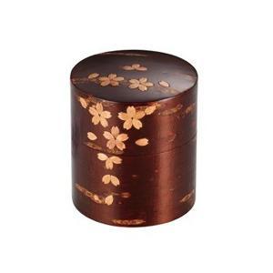 樺細工 総皮茶筒(平)散花 30280|giftshop