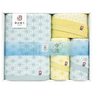 今治タオル 今治 和の香り タオルセット4P バス・ウォッシュ×各1、フェイス×2 WK18500|giftshop