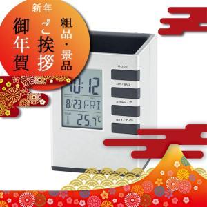 時計・カレンダー・温度計・アラーム・カウントダウンタイマー機能付。  商品名/キューブデスクスタンド...