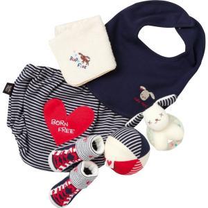 出産祝い ベビー服 ギフト BORN FREEおしゃれベビーカゴ入りギフトレッド C7021518|giftstyle