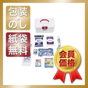 常備薬・衛生用品の管理に最適なプラスチック製箱を使用した救急15点セット。  商品名/ポリ救急箱セッ...