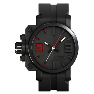 OAKLEY オークリー 10-062 Mens Gearbox Black Red ギアボックス 腕時計 ブラックレッド アナログ メンズ|gifttime