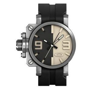 OAKLEY オークリー 10-063 Mens Gearbox Brushed Black and Tan ギアボックス 腕時計 ブラック×タンベージュ アナログ メンズ|gifttime